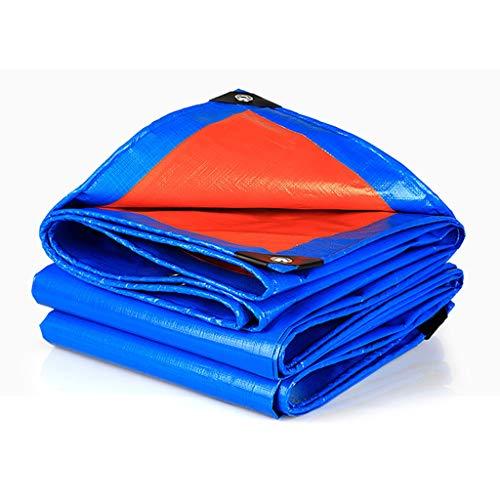 Qjifangfsh Tarpaulin multifunctioneel, meervoudige bescherming, zonwering, regenbescherming, blauw, oranje