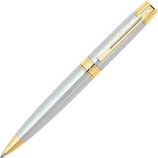 Sheaffer 300, Brushed Chrome, Gold Tone Trim, Ballpoint (E2932751)