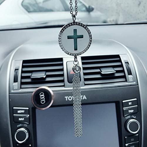 W-Lynn auto-accessoires, kruis hangers, high-end creatieve religieuze kruisen, mode hangers, achteruitkijkspiegel ornamenten, plus parfumolie B