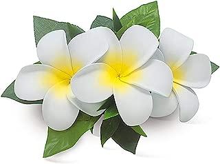 Hawaii Hair Clip Foam Flower Cluster Plumeria White