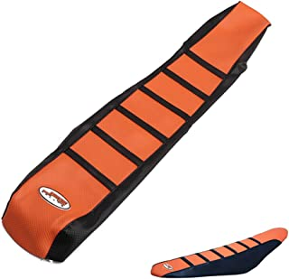 JFGRACING naranja / negro agarre cubierta de asiento de la motocicleta suave para KTM 65 85 105 125 144 150 200 250 300 450 500 530 XC EXC SX SXF 07-14