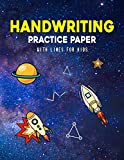 Handwriting Practice Paper With Lines For Kids: Space Handwriting Practice Paper With Dotted Lined Sheets for Preschool Kids And kindergarten toddlers