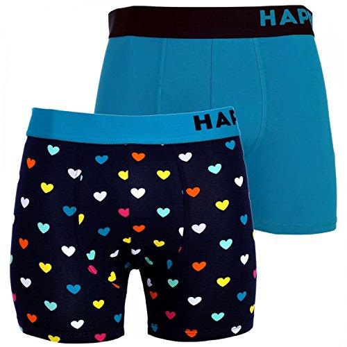 Happy Shorts 2 Pants Herren Boxershorts Boxer witzige Designs Farbwahl, Grösse:M - 5-50, Präzise Farbe:Design 1