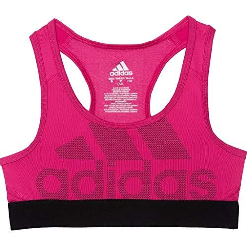 adidas Girl's Don't Rest Logo Sports Bra (Large) Magenta