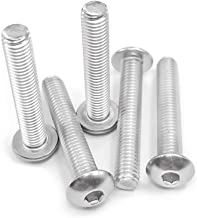 M10-1.5X 30mm (6mm to 100mm Available) Button Head Socket Cap Bolts Screws, 304 Stainless Steel 18-8, Fully Machine Thread, Bright Finish, 20 PCS by Eastlo Fastener