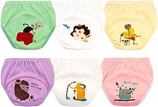 Morbuy-Shop, Pantalones de Entrenamiento para Bebé, Morbuy Reusable Calzones de Entrenamiento Ropa Interior de Entrenamiento Bragas de Aprendizaje para Niño Niña, 1-6 Edad, 6 Piezas