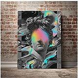 Impresión HD pintura abstracta decoración del hogar escultura lienzo póster imágenes modulares con estilo arte de pared estético para marco de sala de estar
