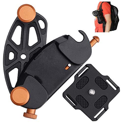 Cinturón de la Cámara Hebilla del cinturón de liberación rápida Aleación de Aluminio Ultraligero para Cámara Réflex Digital para Viajes, Deporte, Ciclismo, Senderismo, Entrenamiento de Campo ✅