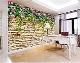 Größe Mural Foto 3D Wandbild Wohnzimmer Rosenkultur Stein 3D Malerei Tv Hintergrund Vliestapete Für Wand 3D, 430 Cm X 300 Cm