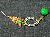 Catenella per ciuccio con nome per ragazze e ragazzi, vari modelli, idea regalo per nascita o battesimo, denominazione colore: doppio, volpe, arancione, giallo, verde