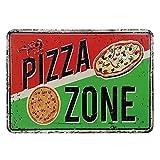 GUOYXUAN Metall Poster Pizza Zeichen Retro Weißblech