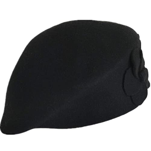 b46bd10aa28 TWGONE 100% Wool Womens Beret Felt Elegant Women French Style Tag Beanie  Warm Pillbox Hat