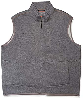 Hawke & Co Men's Vest W/Chest Zip, Frost Grey, Small by Hawke & Co