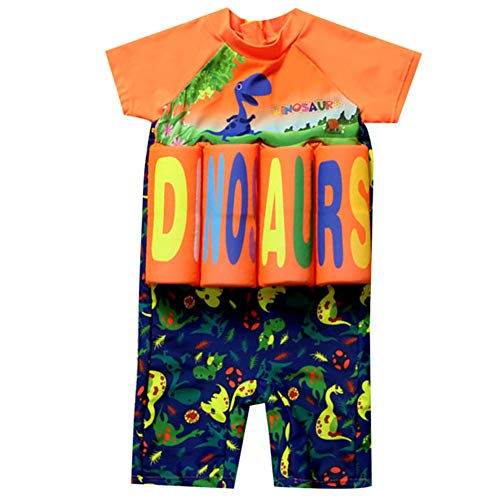 AMIYAN Kinder Jungen Float Suit Bojen-Badeanzug Niedlich Dinosaurier Badeanzug mit Schwimmhilfe Training Swimwear für Strand Baden (Höhe 90-100cm)