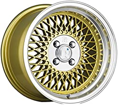 Klutch SL1 Gold Wheel with Painted (15 x 8.5 inches /4 x 100 mm, 17 mm Offset)