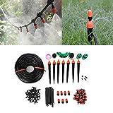 Emoshayoga Juego de riego de riego de jardín Equipo de riego Ajustable Kit de riego Duradero y Reutilizable para césped de Patio de Flores
