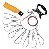 XIAO JING Stainless Steel Fish Stringer/Lock/Holder kit with High Strength Snaps/Buckles, Stainless Steel