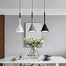 Led ijzer ambachtelijke plafondlamp geel warm licht zwart wit grijze kroonluchter dining woonkamer studie slaapkamer eenvo...