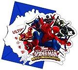 Procos Ultimate Spiderman Web Warriors - Einladungskarten mit Umschlag