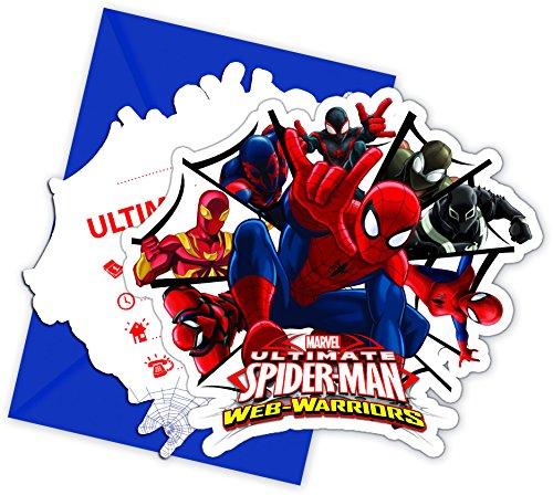Procos NEU Einladungskarten Spiderman & Team, 6 STK.