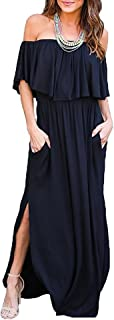 Best navy off the shoulder dress Reviews