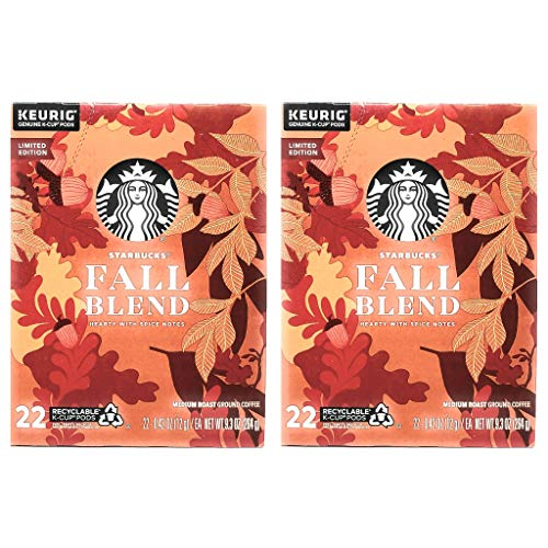 Starbucks Coffee Fall Blend K Cups Coffee Pods - 44 K Cups Total - Pack of 2 Boxes - 22 K Cups Per Box - Limited Edition Fall Blend Starbucks Coffee - For Use of Keurig Coffee Makers