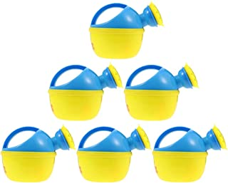Amosfun 6Pcs Plastic Watering Can Small Sand Beach Watering Toy Bathtub Playing Fun Toy Garden Watering Kettle for Childre...