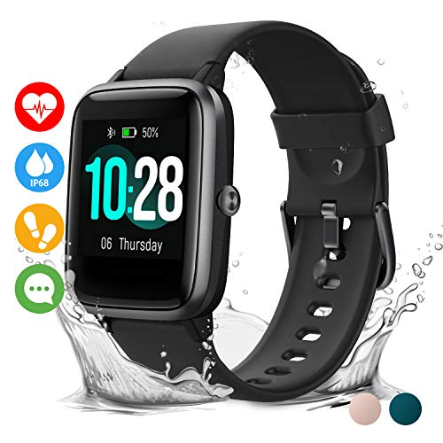 Vigorun Smartwatch Orologio Fitness Impermeabile IP68 Uomo Donna Fitness Tracker Schermo Tattile 10 Giorni Durata Cardiofrequenzimetro da Polso Contapassi Activity Tracker for iPhone Huawei Samsung