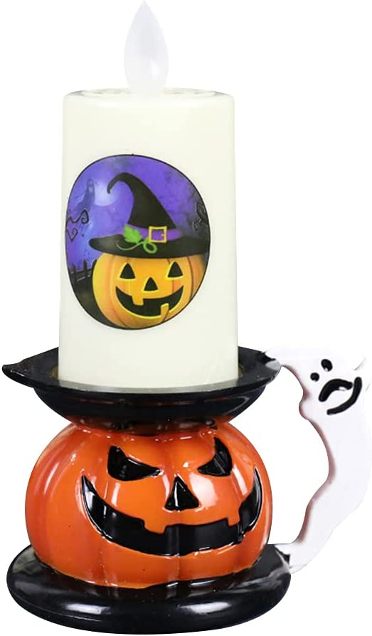 Halloween Candle Houston Mall New color Lighted Flameless Lamp Holder