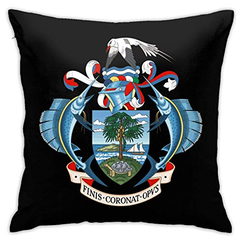 Escudo de las Seychelles - Fundas para cojines decorativos de 18 x 18 pulgadas, para sofá, coche, sofá, cama, suave Pillo