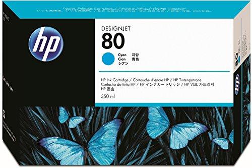 HP 80 Cyan Original Tintenpatrone, 350 ml