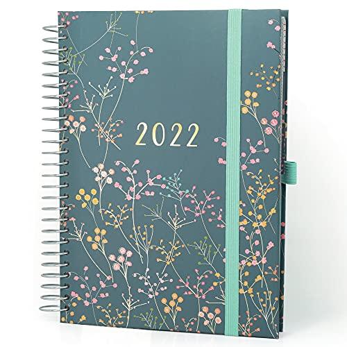 (en inglés) Family Life Book de Boxclever Press. Agenda 2021 2022. Agenda Escolar 2021-2022 A5 Formato 7 Columnas. Planificador Semanal de 16 Meses, Mediados de Agosto'21-Dic'22. Agenda Escola
