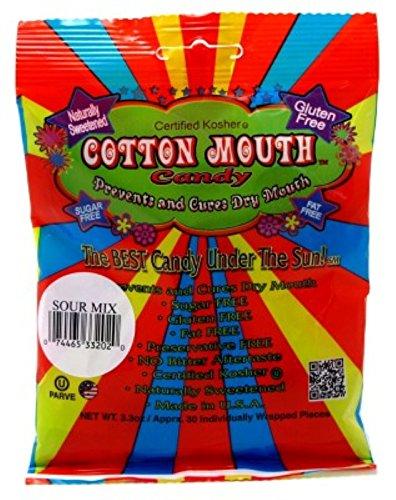 Cotton Mouth Candy Sour mix bag 3,3 unzen (3er-pack) 3,3 ounce (3er-pack)