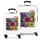 Marvel Los Vengadores Comic Juego de maletas Multicolor 55/68 cms Rígida ABS Cierre...