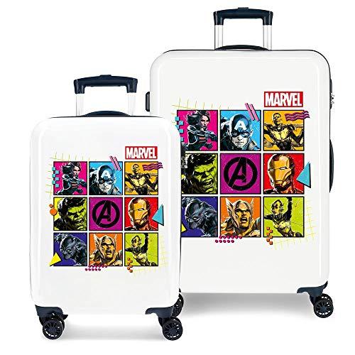 Marvel Los Vengadores Comic Juego de maletas Multicolor 55/68 cms Rígida ABS Cierre combinación 104L 4 Ruedas Dobles Equipaje de Mano