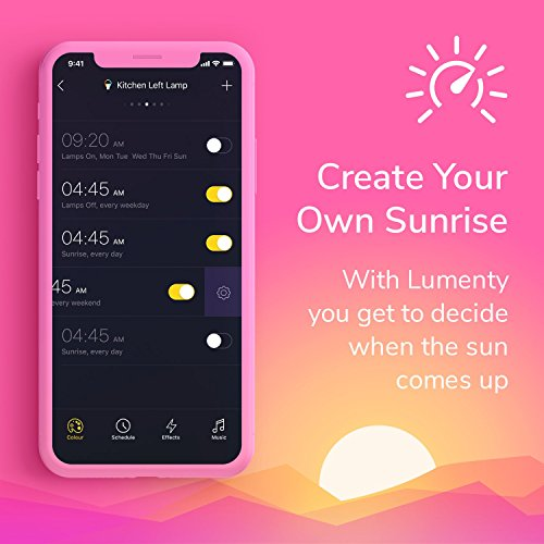 Smart Light Bulb : Bluetooth Smart Bulb No Hub Required Music Synch, App Controlled, Party Lights, Dimmable Night Light for Mood Lighting Multicolor Light Bulb, Smart Bulb by LUMENTY