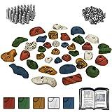ALPIDEX Starterset: 35 Klettergriffe Klettersteine inklusive Schrauben und Einschlagmuttern -...