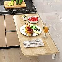 ウォールテーブル、折りたたみデスク、フローティングテーブル、ラップトップテーブル、キッチン/ベッドルーム/バルコニー用、高さは自由に調整でき、さまざまなニーズに対応します。,Wood,80*50cm/31.5*20in