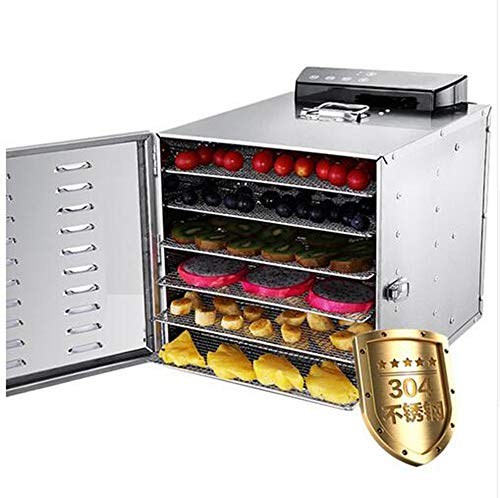 Learn More About 6 Trays Stainless Steel Food Dehydrator Fruit Vegetable Dehydration Air Dryer Snack...