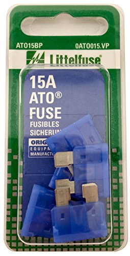 Littelfuse ATO15BP ATO 257 Series Fast-Acting Automotive Blade Fuse - Pack of 5 1994 Nissan 240sx Type
