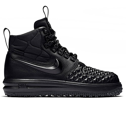 Nike WMNS Lunar Force 1 Duckboot Women Casual Lifestyle Shoes (5 B(M) US, Black/Black-White)