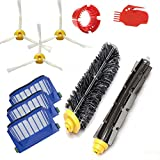 Amyehouse Replacement Parts Kit Bristle Brush & Flexible Beater Brush & Aero Vac Filter & Armed-3 Side Brush for iRobot Roomba 600 Series 595 610 614 620 630 650 660 671 680 690 Vacuum