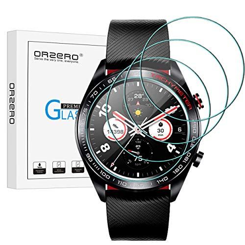 NEWZEROL 4 Stück kompatibel für Honor Magic Watch (Nicht für Magic Watch 2) Panzerglas Schutzfolie,9 Festigkeit Hochauflösender gehärtetes Glas-Bildschirmschutz Anti-Kratzer blasenfrei Schutzfolie