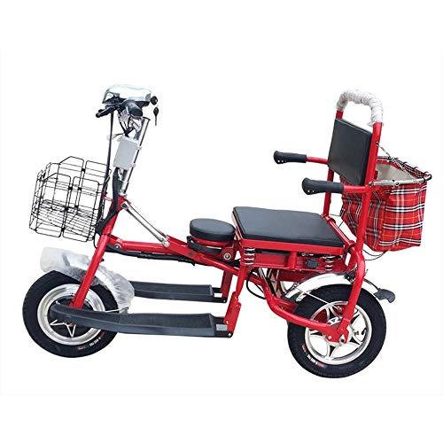 Oaimk Triciclo Electrico Adulto Minusvalido 3 Ruedas Ciclomotor para Personas Mayores, Plegable, 350W, 48V, 20AH, 55km