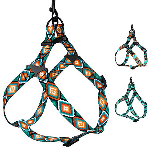 CollarDirect Adjustable Dog Harness Tribal Pattern Step-in Small Medium Large, Comfort Harness for Dogs Puppy Outdoor Walking (Pattern 3, Medium)