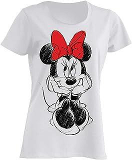 Minnie Mouse Lazo Rojo Camiseta Mujer