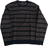 Ralph Lauren Polo Mens Wool Cashmere Blend Fair Isle Crewneck Sweater (Large, Navy Multi) by