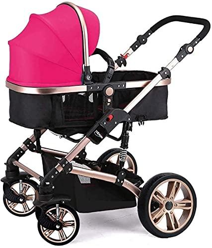 YQLWX Reisesystem Säuglingswagen Tragbare Kinderwagen 3 in 1, Reisesystem mit Baby-Kinderwagen Faltbare Anti-Shock-Hochansicht-Wagen (Farbe: b) (Farbe : F)