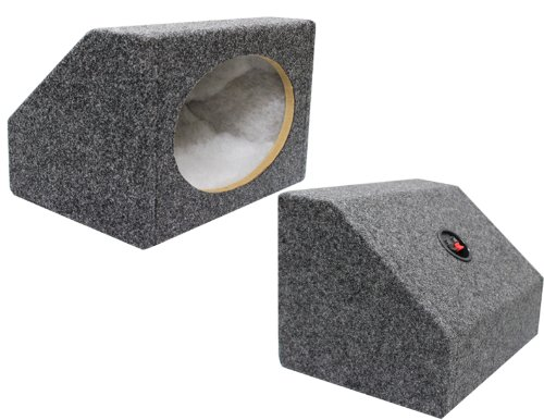 Absolute USA 6X9PKG 6 X 9 Inches Angled/Wedge Box Speakers, Set of Two (Grey)
