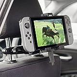 Soporte de Coche para la Nintendo Switch marca Olixar - Instalación en el reposacabezas - Color negro